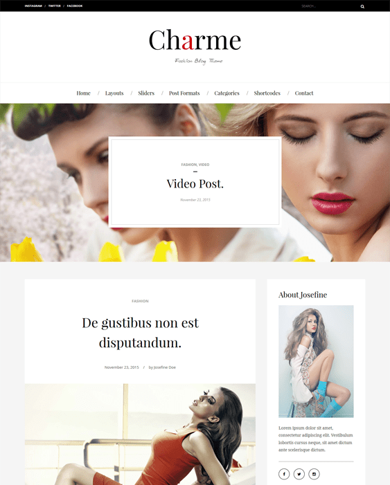 charme fashion blog wordpress themes