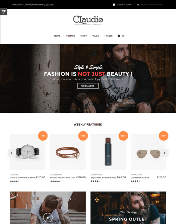 claudio woocommerce themes