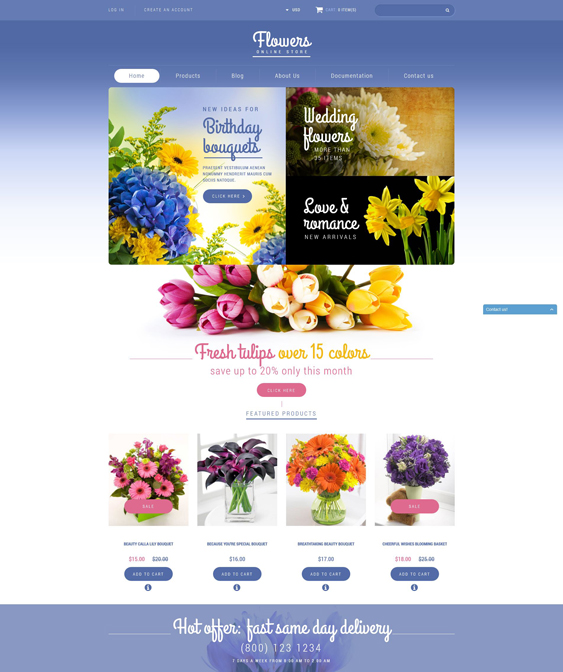 flowers florists plant stores shopify themes