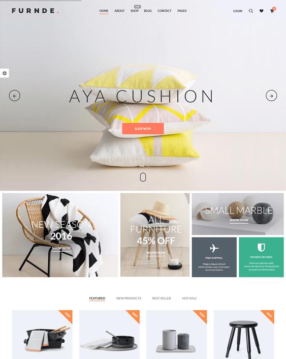 furnde interior design wordpress themes