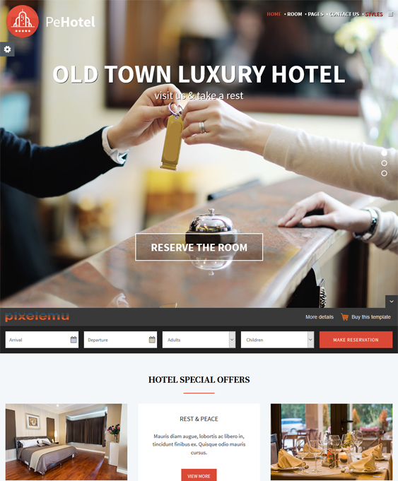hotel wordpress themes resort