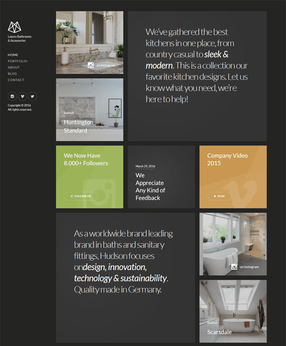 hudson interior design wordpress themes