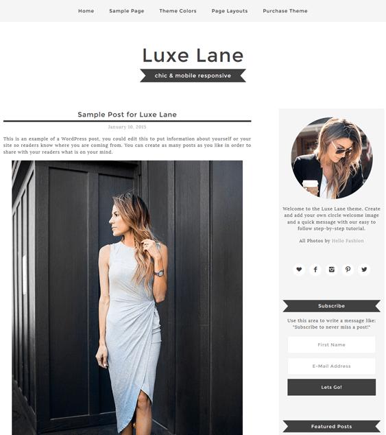 luxe fashion blog wordpress themes