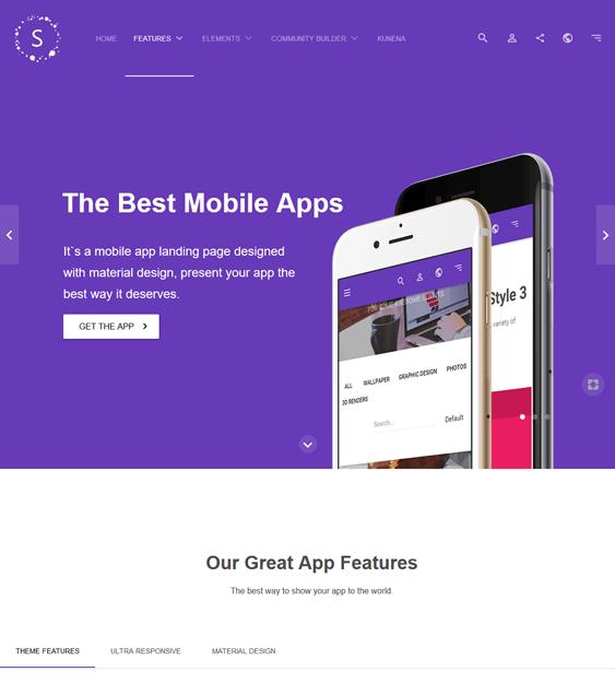 sirena promoting apps joomla templates