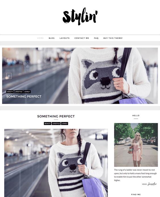 stylin fashion blog wordpress themes