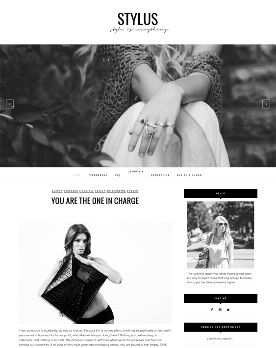 stylus fashion blog wordpress themes