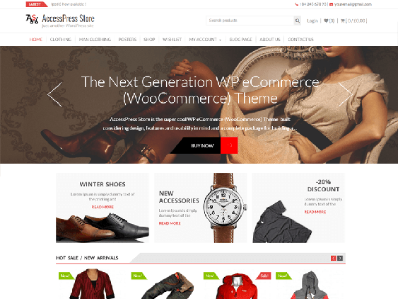 accesspress free woocommerce themes