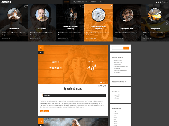 amigo free dark wordpress themes