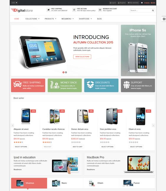 ap digital electronics shopify themes