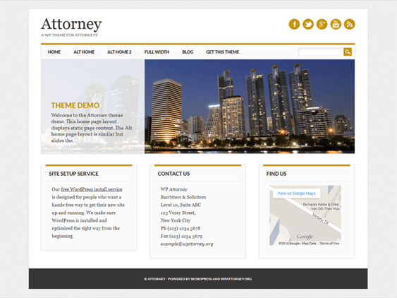 free lawyers attorneys wordpress themes