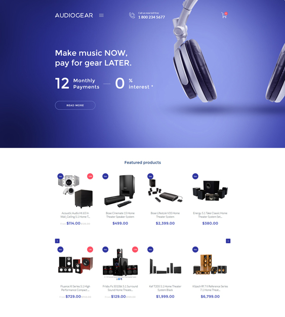 audio electronics shopify themes
