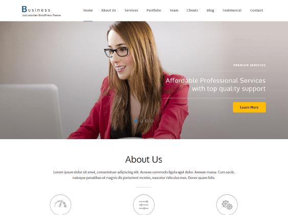 business free one page wordpress themes