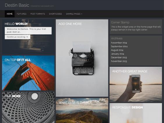 destin free dark wordpress themes