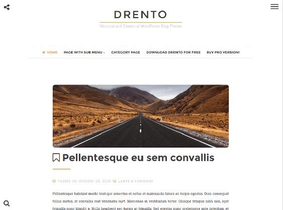 drento free minimal wordpress themes