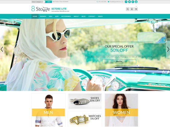 eight store free woocommerce themes