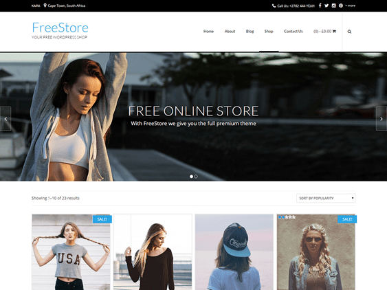 free store free woocommerce themes