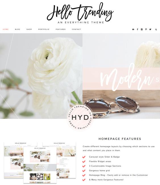 hello feminine wordpress themes