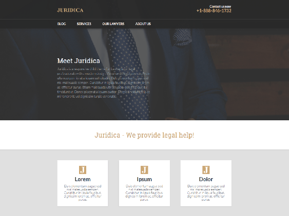 juridica free lawyers attorneys wordpress themes