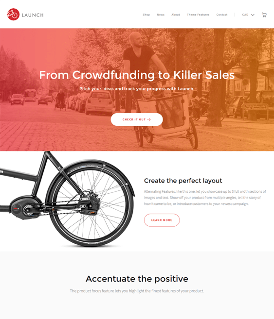 launch bold crowdfunding shopify themes
