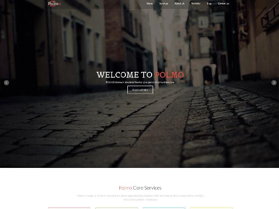 polmo free one page wordpress themes