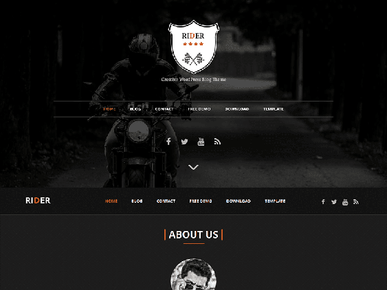 rider free dark wordpress themes