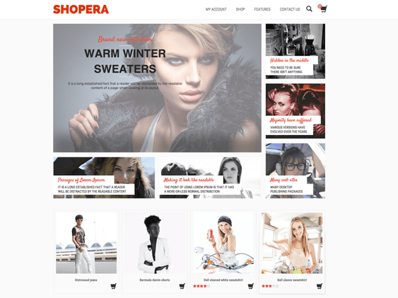 shopera free woocommerce themes