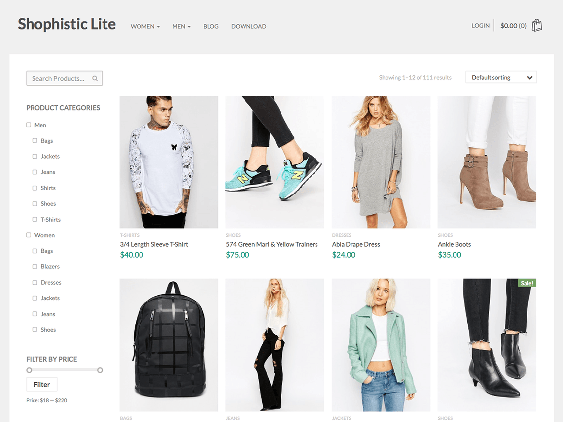 shophistic free woocommerce themes