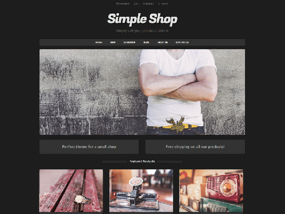 simple free dark wordpress themes