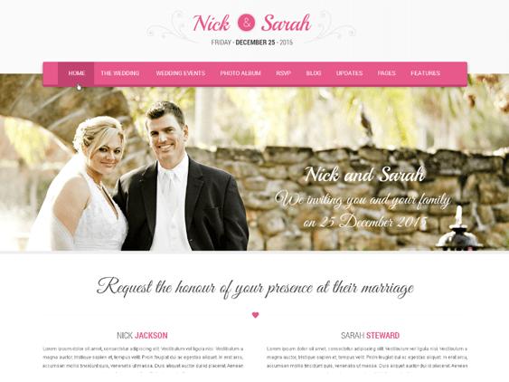 skt wedding free feminine wordpress themes