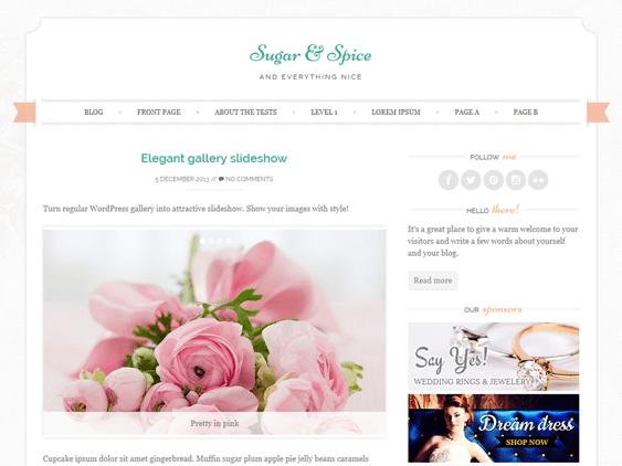 sugar free feminine wordpress themes