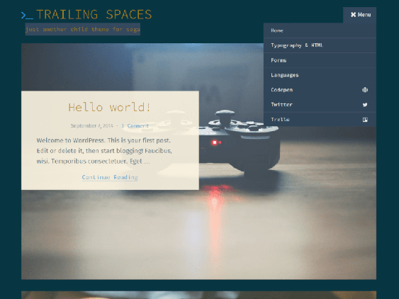 trailing free dark wordpress themes