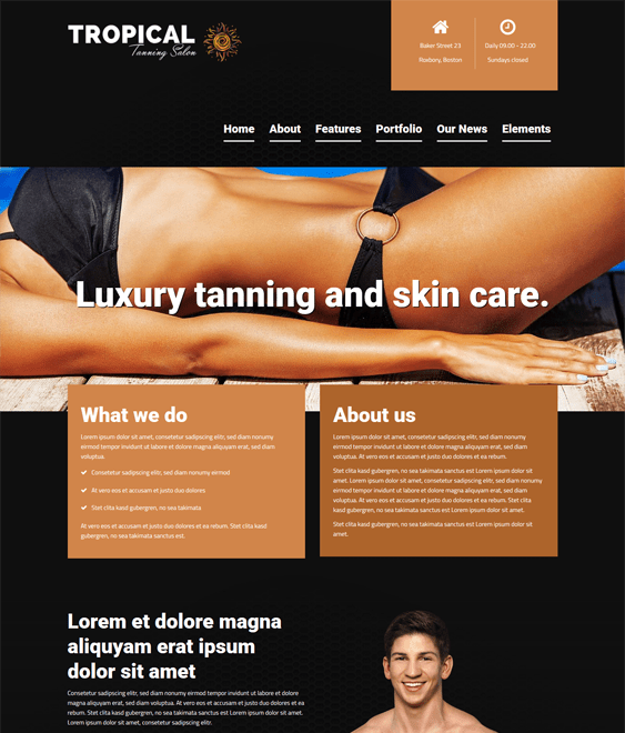 tropical dark wordpress themes