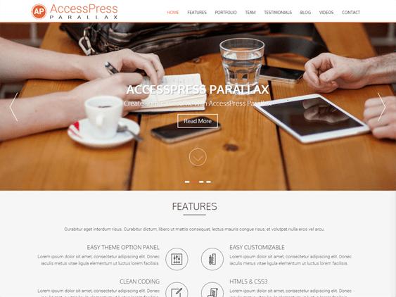 accesspress free parallax wordpress themes