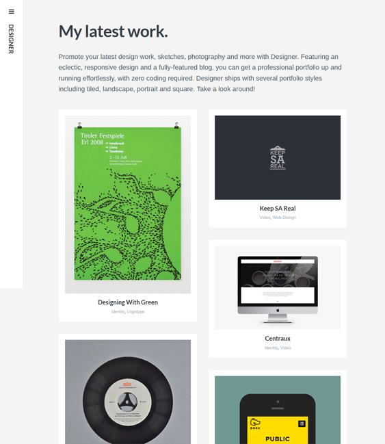 designer masonry wordpress themes