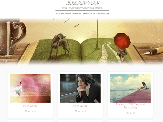 dream free parallax wordpress themes