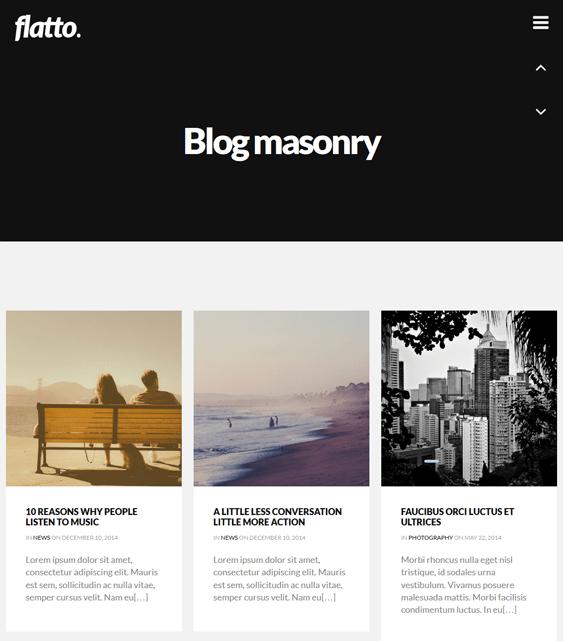 flatto masonry wordpress themes