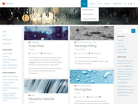 fluida free masonry wordpress themes