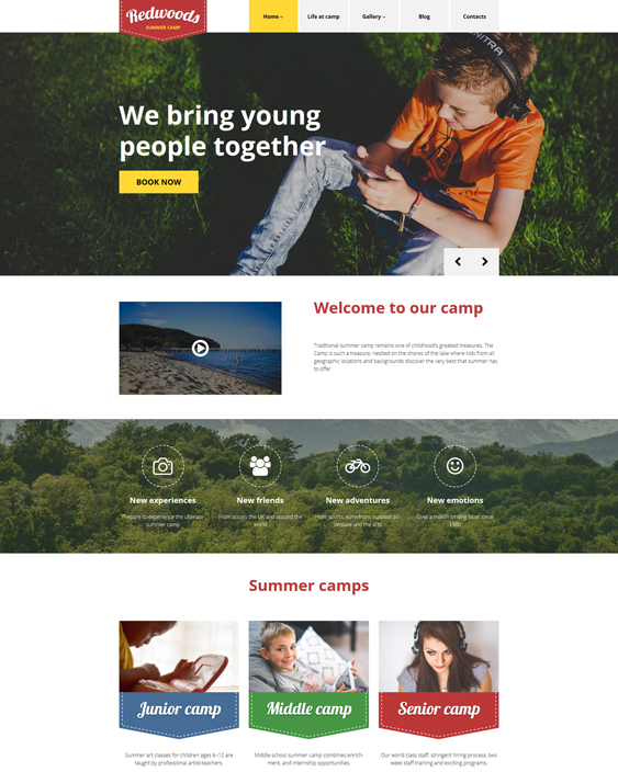 redwoods kids joomla templates