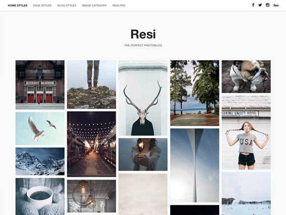 resi free masonry wordpress themes