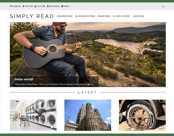 simply read free masonry wordpress themes