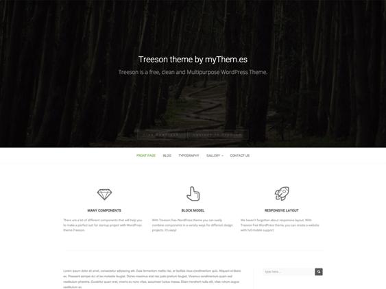 treeson free parallax wordpress themes
