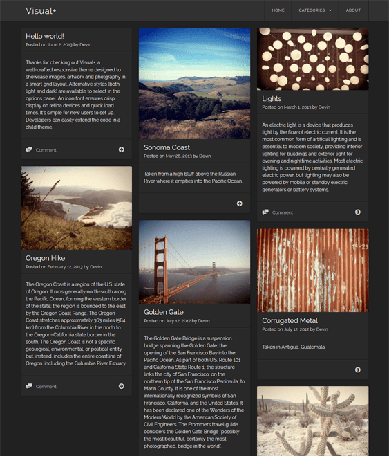 visual masonry wordpress themes