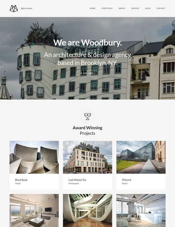 woodbury architecture wordpress themes