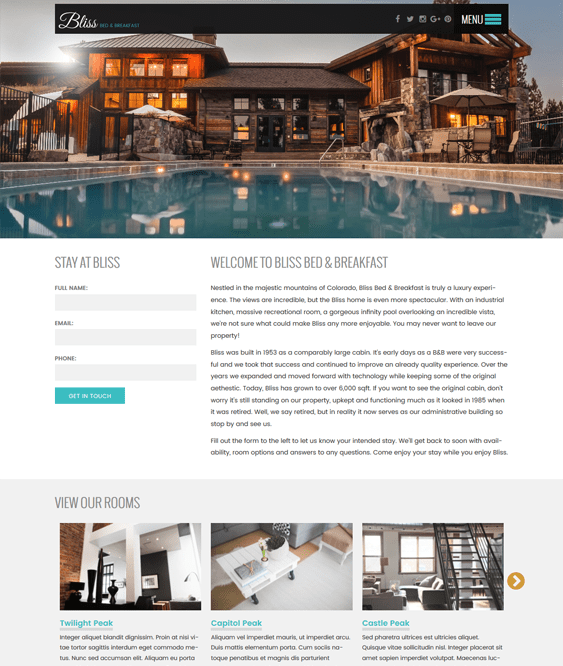 bnb hotel wordpress themes