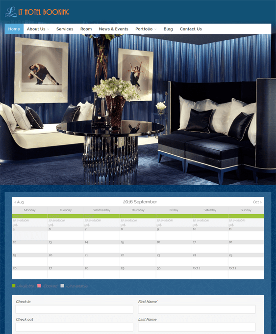 lt hotel wordpress themes