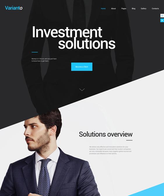 varianto financial joomla templates
