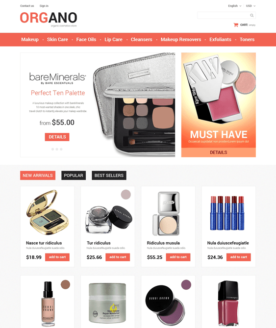 all occasions prestashop themes beauty products cosmetics make up
