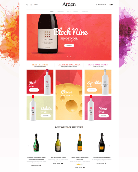 arden food drink wordpress themes