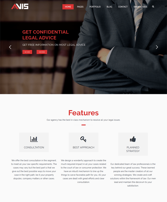 avis lawyer wordpress themes