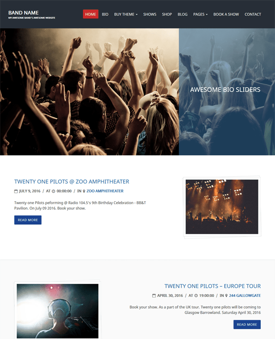 charity review music wordpress themes